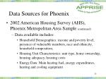 data sources for phoenix25