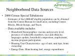neighborhood data sources37