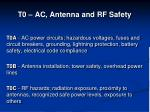 t0 ac antenna and rf safety