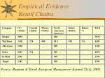 empirical evidence retail chains