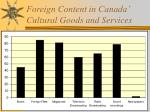 foreign content in canada cultural goods and services