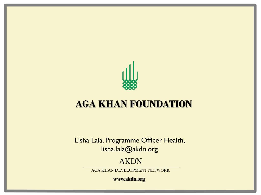 aga khan foundation l.
