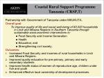 coastal rural support programme tanzania crsp t