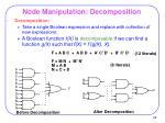 node manipulation decomposition