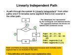 linearly independent path