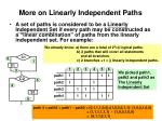 more on linearly independent paths1