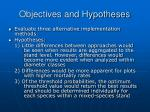 objectives and hypotheses13