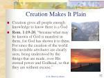 creation makes it plain32