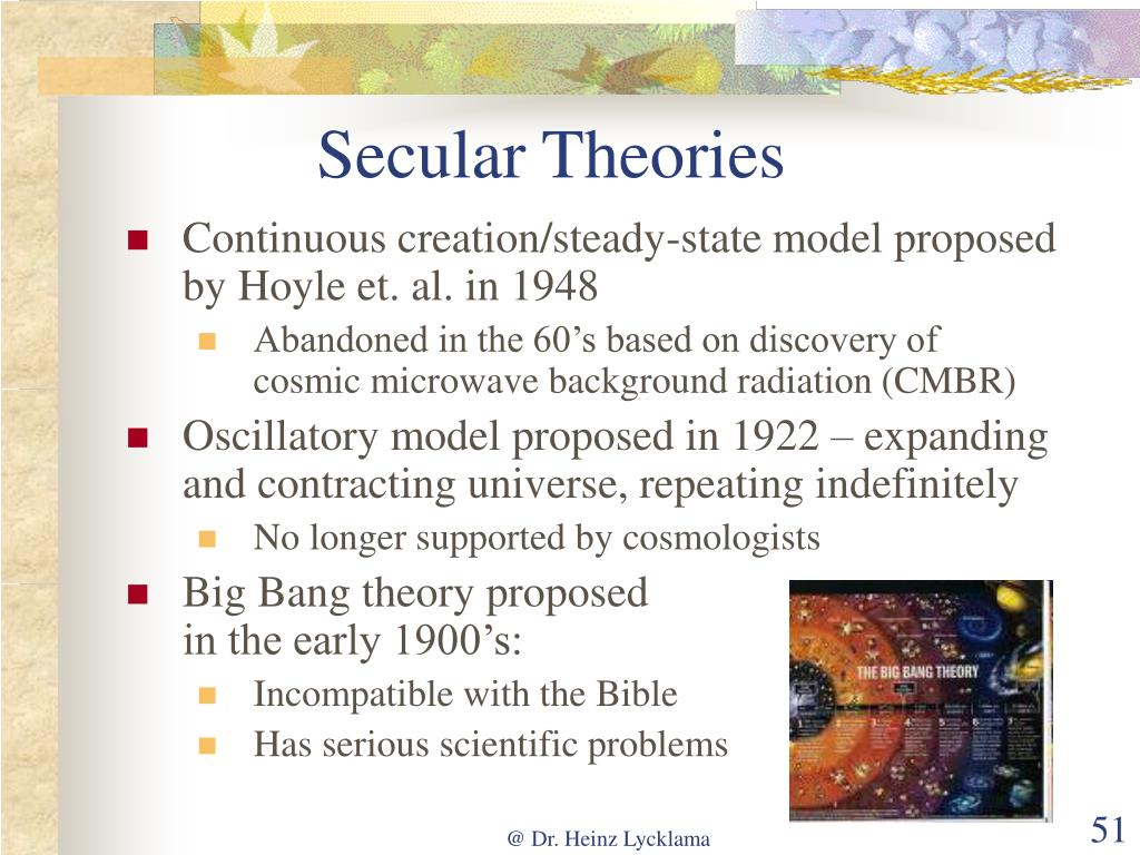 Secular Theories