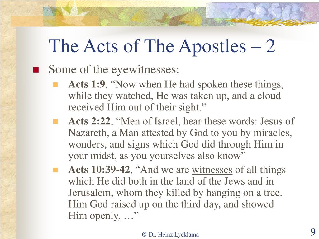 The Acts of The Apostles – 2