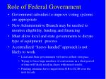 role of federal government