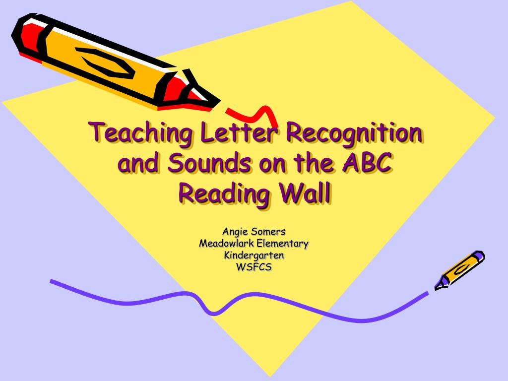 teaching letter recognition and sounds on the abc reading wall l.