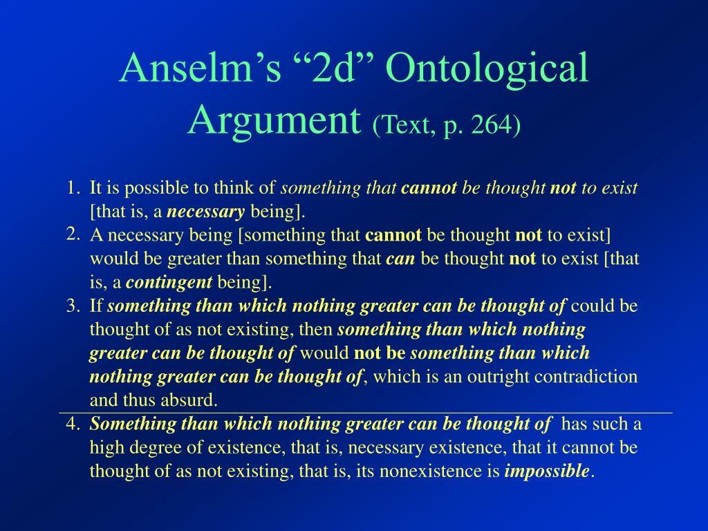 anselms ontological argument introduction