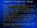 aquinas s 1st argument change