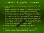 aquinas s 2d argument causation