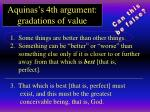 aquinas s 4th argument gradations of value