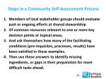 steps in a community self assessment process