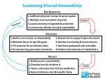 sustaining shared stewardship