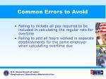 common errors to avoid87