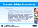 computer related occupations