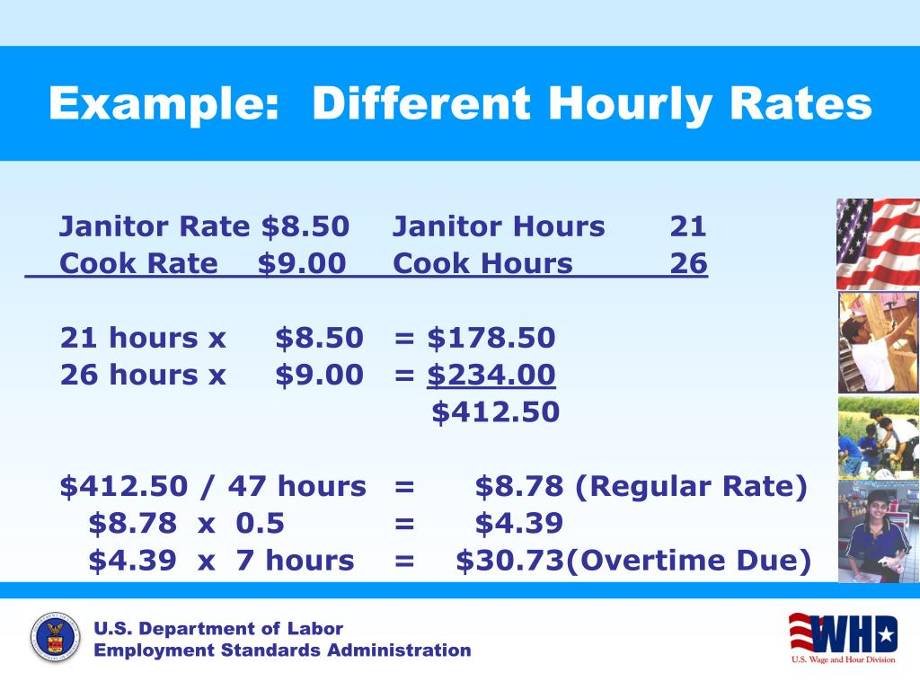 Example:  Different Hourly Rates