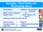 example fixed salary for fluctuating hours