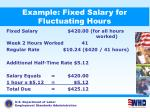 example fixed salary for fluctuating hours39
