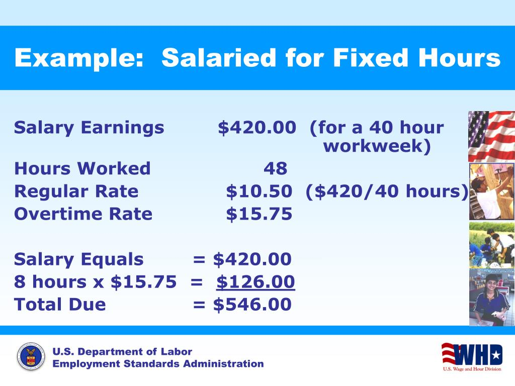 Example:  Salaried for Fixed Hours