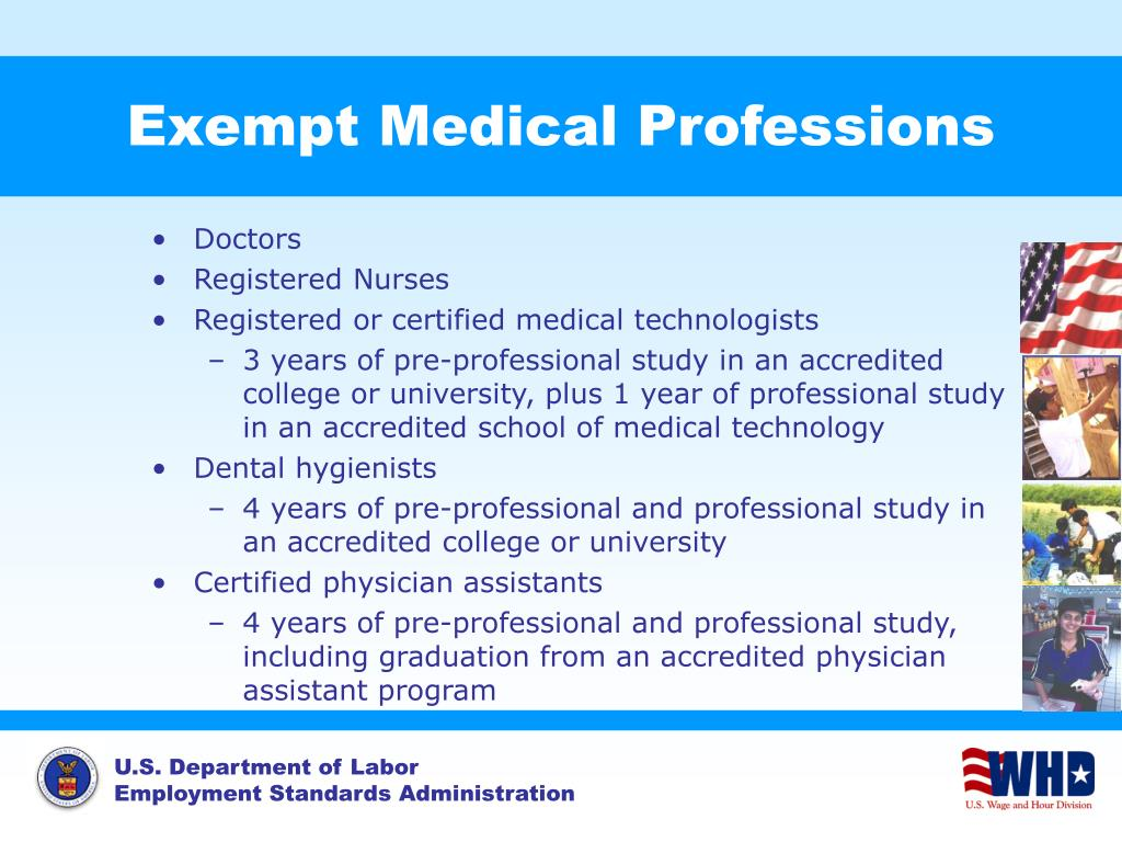 Exempt Medical Professions