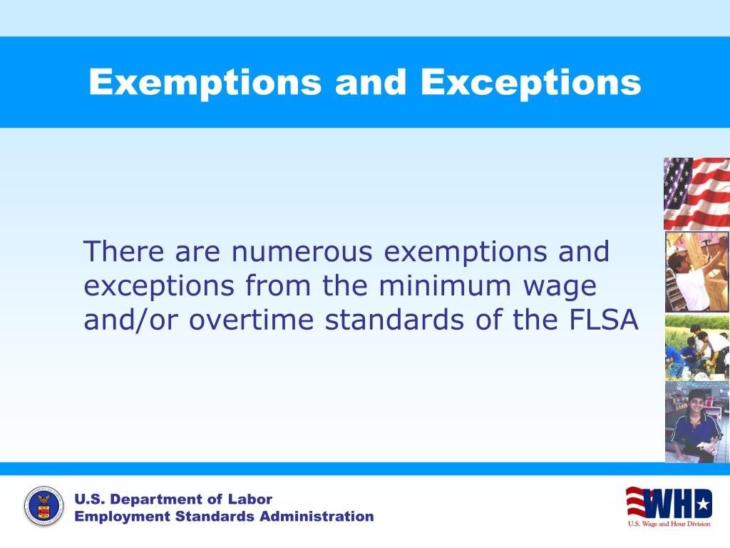 Exemptions and Exceptions