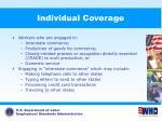 individual coverage
