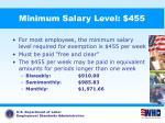 minimum salary level 455