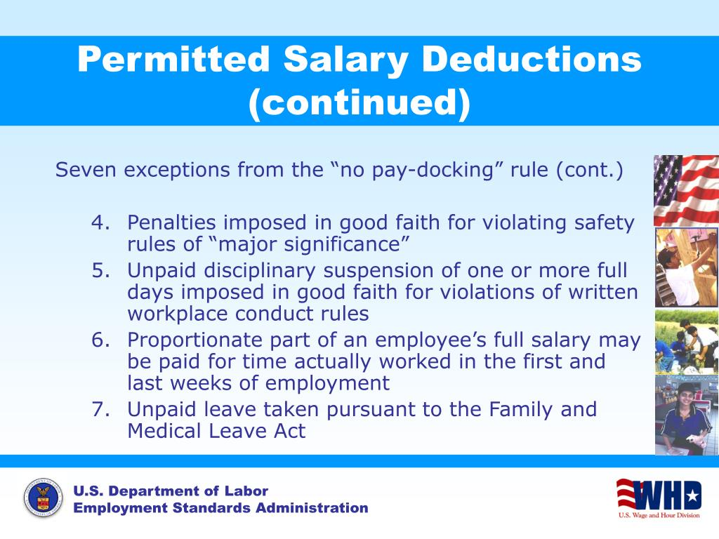 Permitted Salary Deductions (continued)