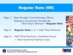 regular rate rr