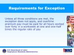 requirements for exception73