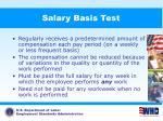 salary basis test