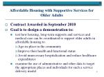 affordable housing with supportive services for older adults
