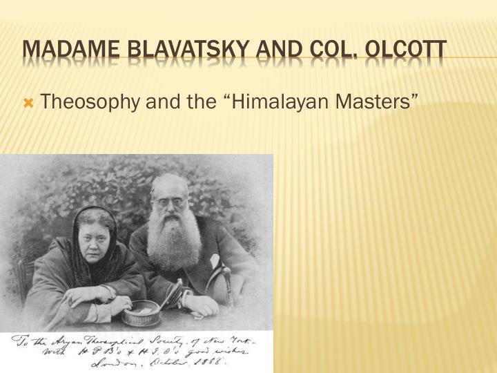 Madame blavatsky and col olcott