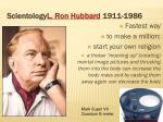 scientology l ron hubbard 1911 1986