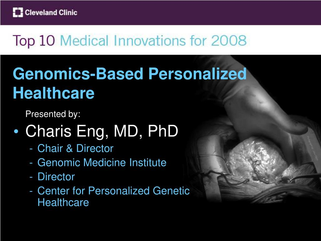 genomics based personalized healthcare l.