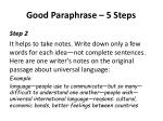 good paraphrase 5 steps1