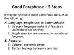 good paraphrase 5 steps2
