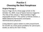 practice 1 choosing the best paraphrase1
