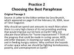practice 2 choosing the best paraphrase2