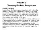 practice 2 choosing the best paraphrase3