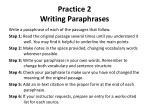 practice 2 writing paraphrases