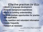 effective practices for ells