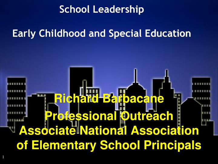 school leadership early childhood and special education n.