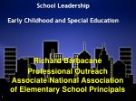 school leadership early childhood and special education