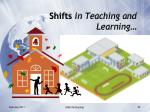 shifts in teaching and learning